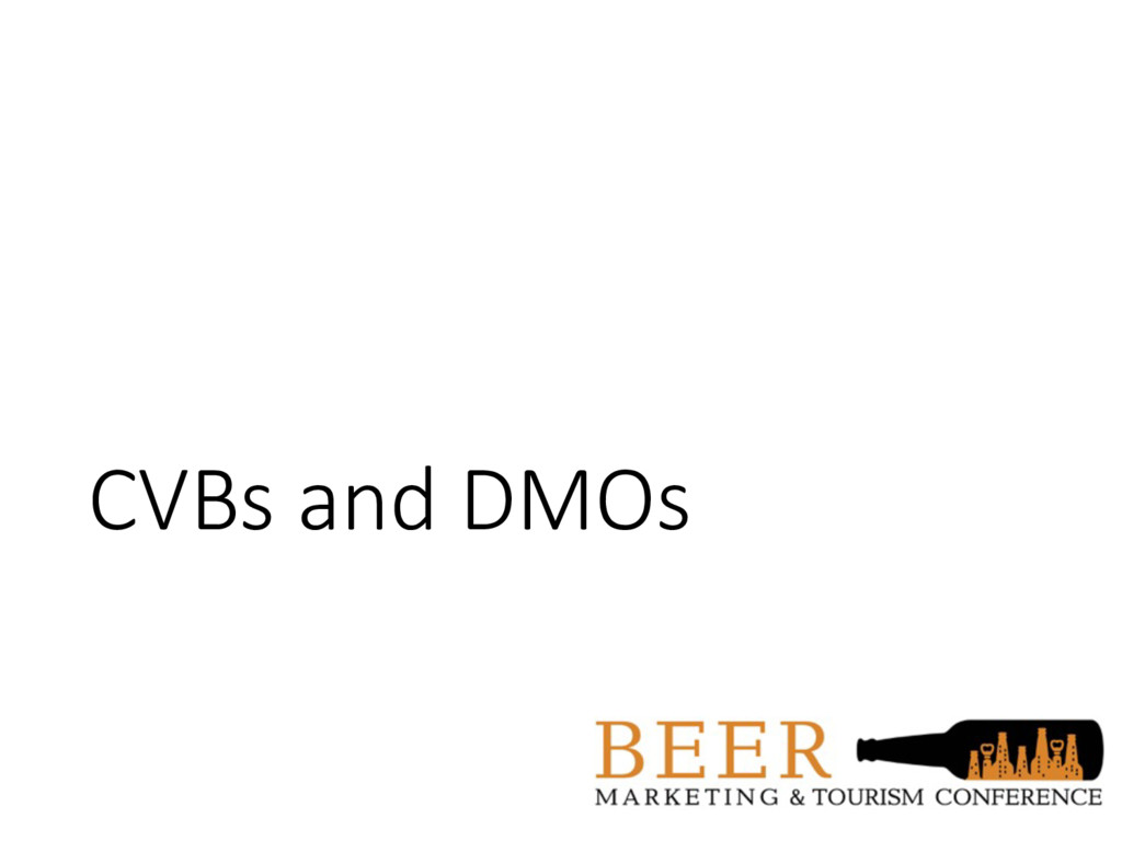 CVBs and DMOs