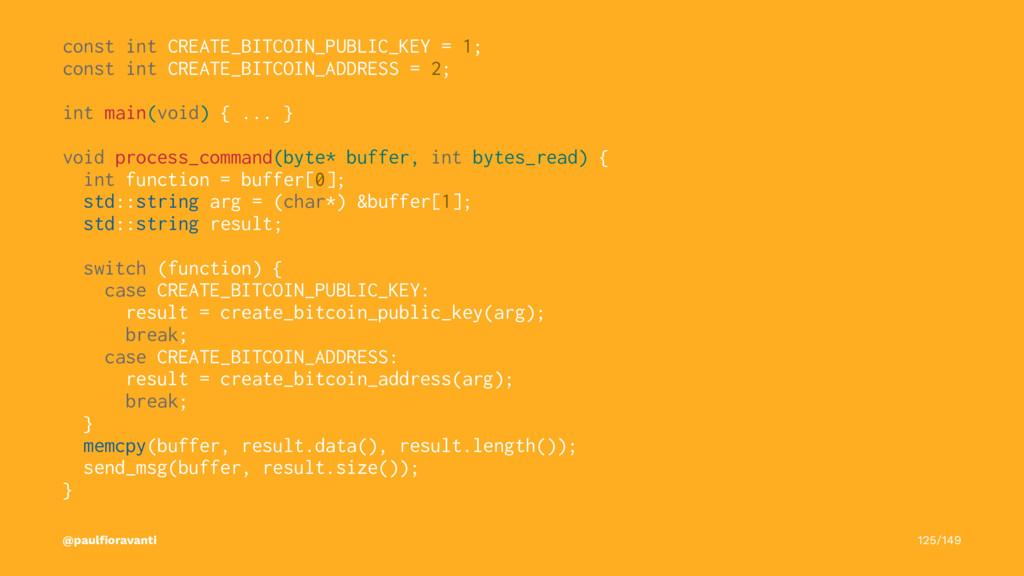 const int CREATE_BITCOIN_PUBLIC_KEY = 1; const ...
