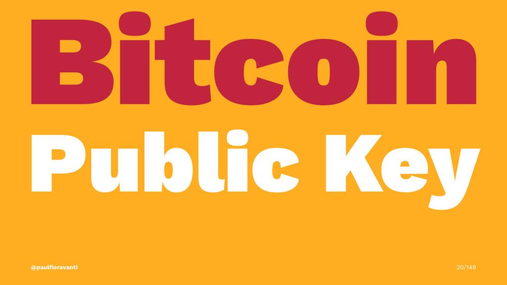 Bitcoin Public Key @paulfioravanti 20/149
