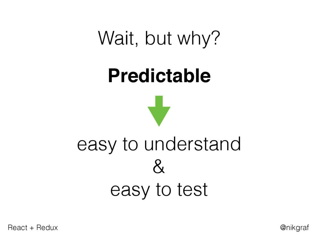 React + Redux @nikgraf Wait, but why? Predictab...