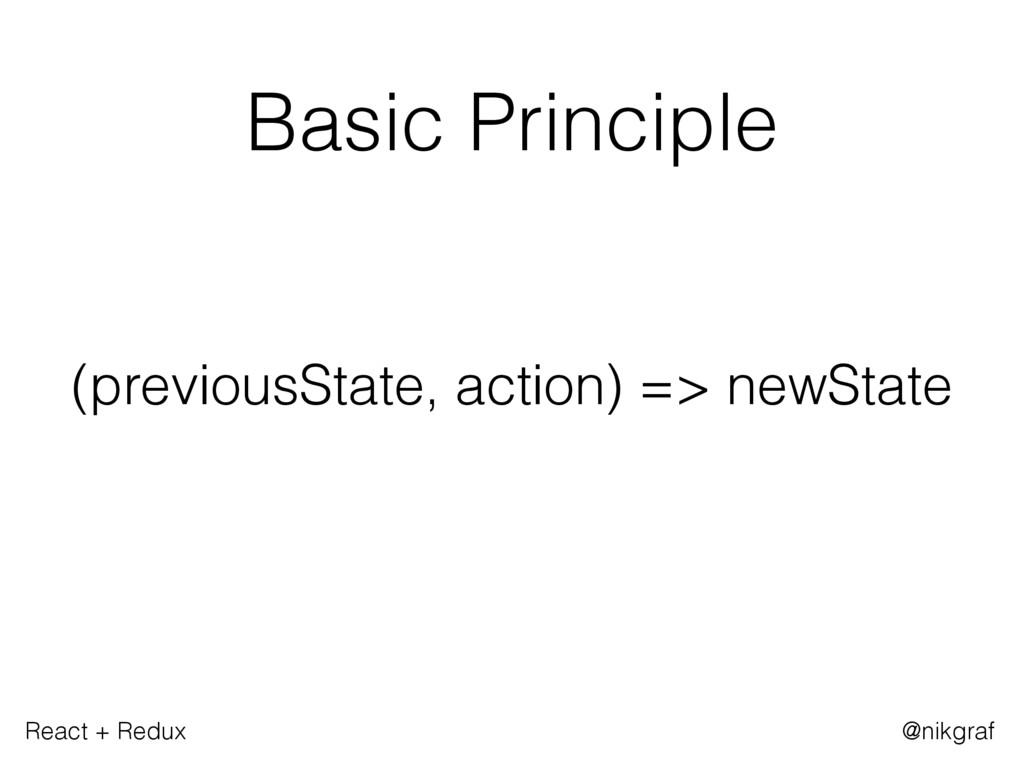 React + Redux @nikgraf Basic Principle (previou...