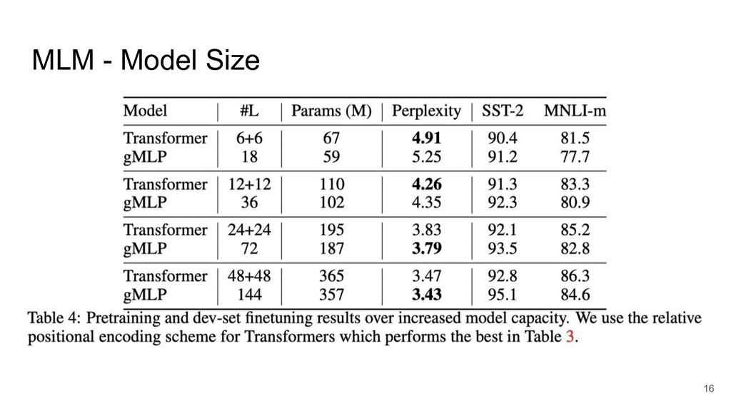 MLM - Model Size 16