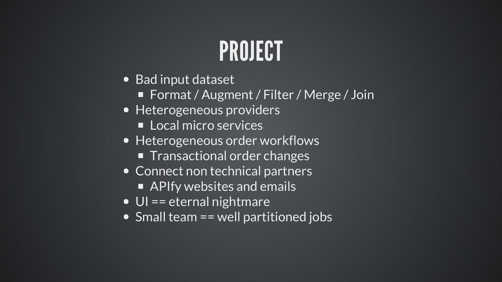 PROJECT Bad input dataset Format / Augment / Fi...