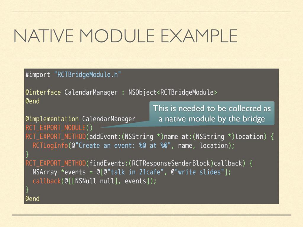 "#import ""RCTBridgeModule.h"" @interface Calendar..."
