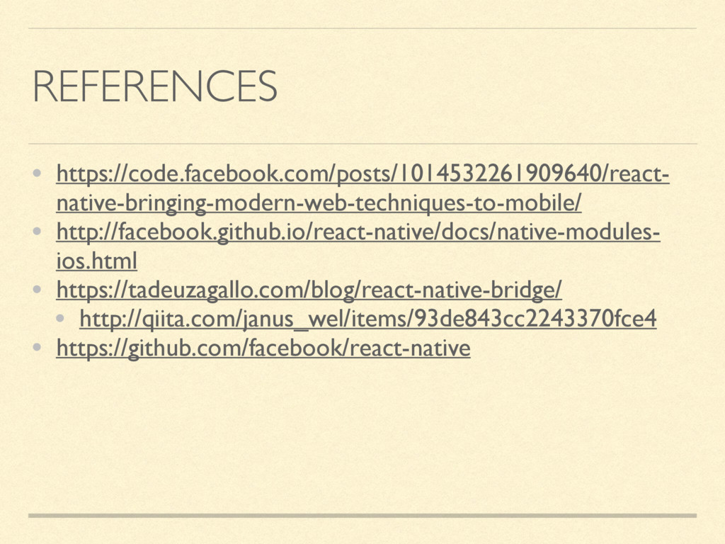 REFERENCES • https://code.facebook.com/posts/10...