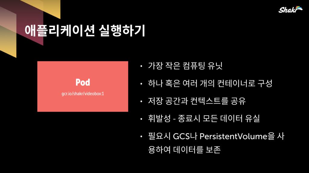 팮읺핂켦킲믾 Pod gcr.io/shakr/videobox:1 ˖ 많핳핟픎...