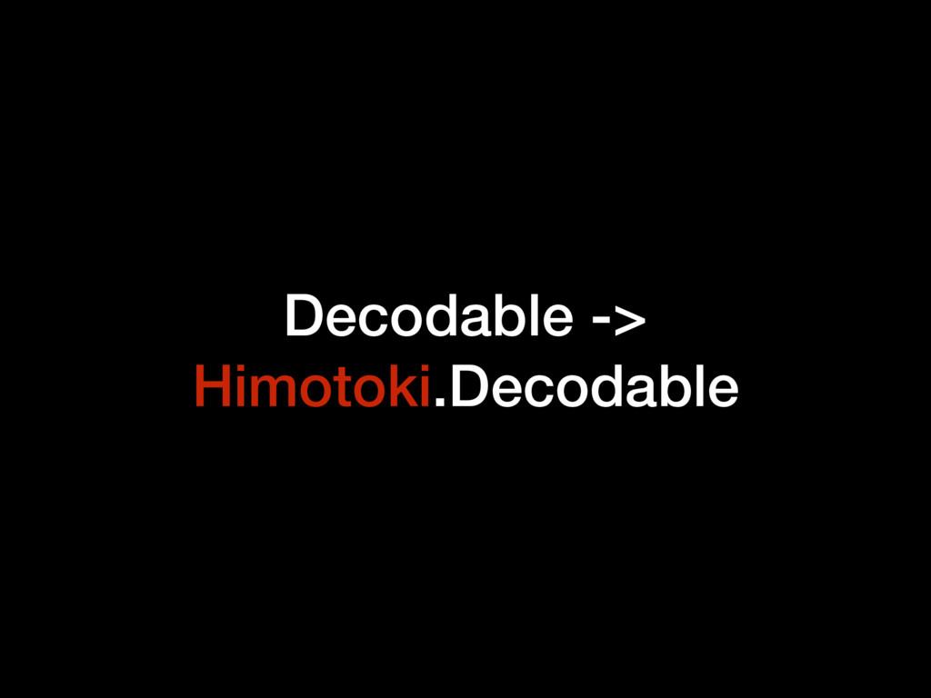 Decodable -> Himotoki.Decodable