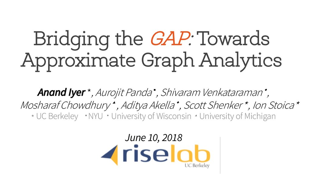 Bridging the GAP: Towards Approximate Graph Ana...