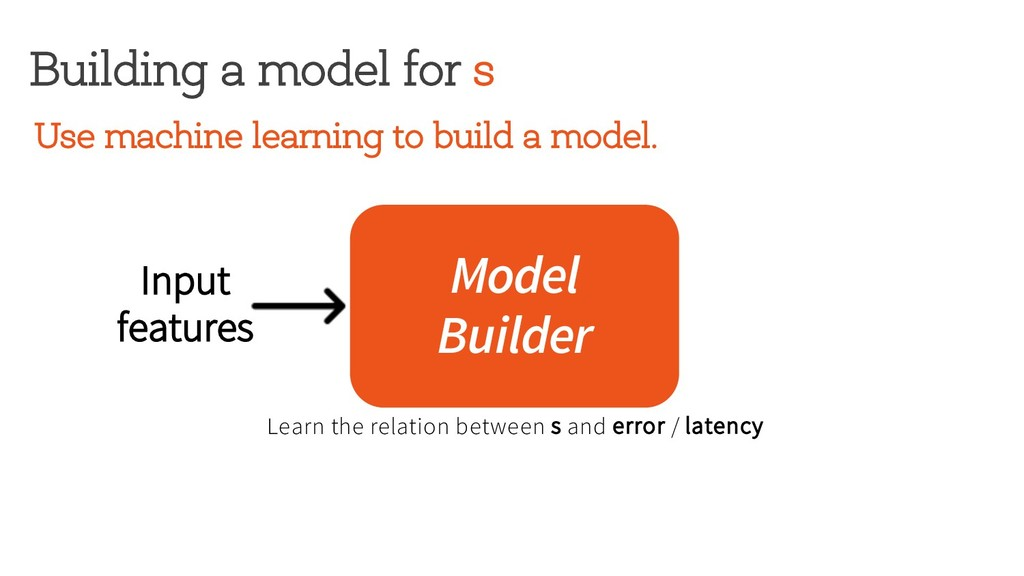 Building a model for s Model Builder Input feat...