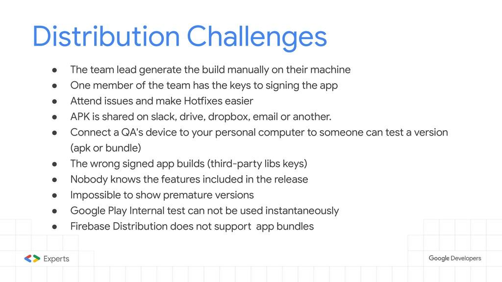 Distribution Challenges ● The team lead generat...
