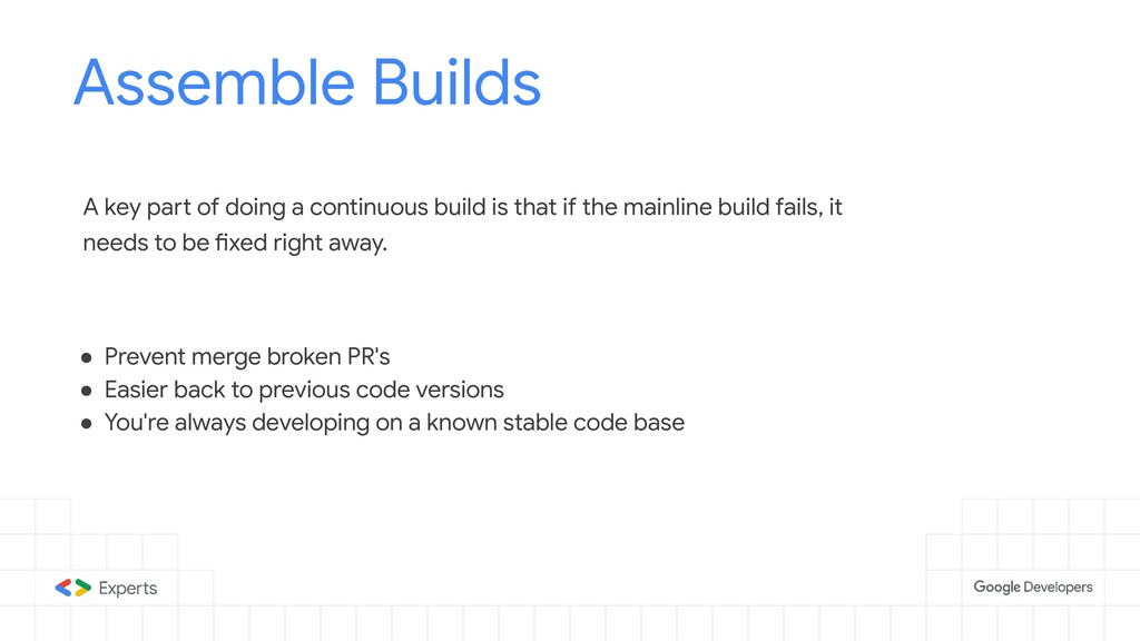 Assemble Builds Tools to d A key part of doing ...