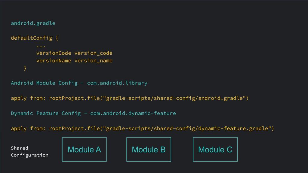 android.gradle defaultConfig { ... versionCode ...