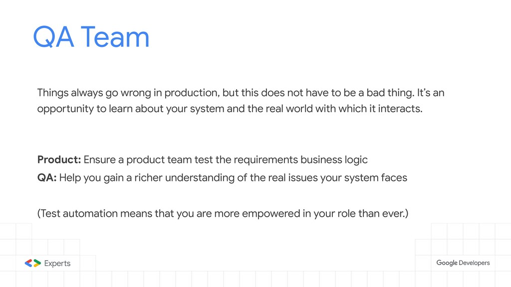 QA Team Tools to d Things always go wrong in pr...