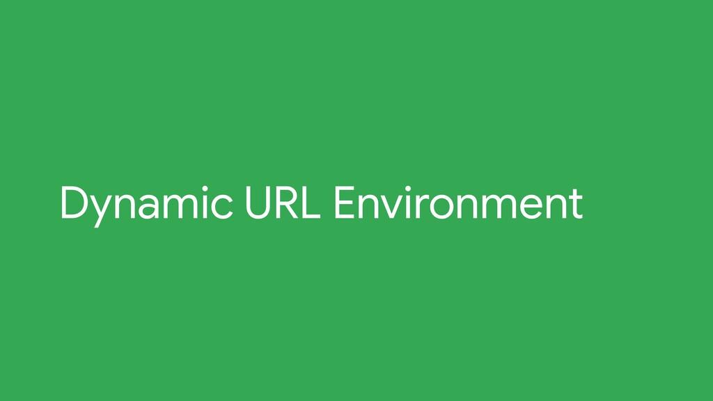 Dynamic URL Environment
