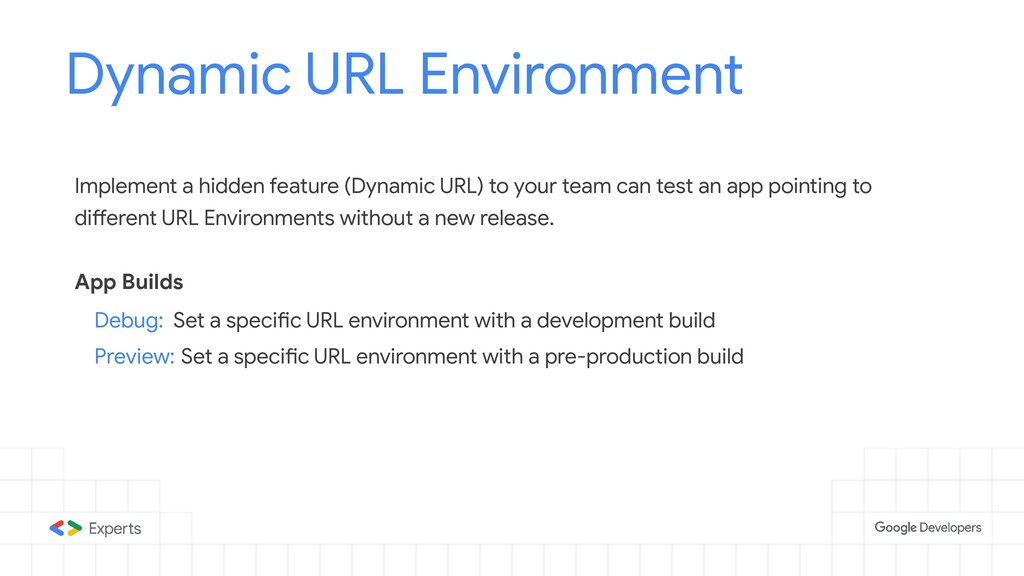 Dynamic URL Environment Tools to d Implement a ...