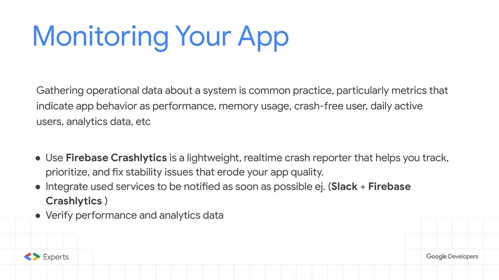 Monitoring Your App Tools to d Gathering operat...