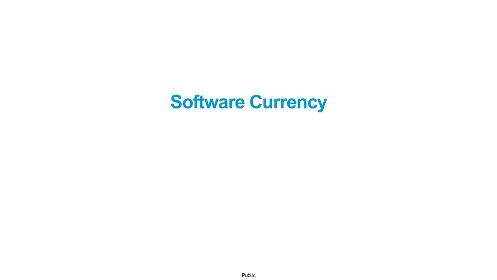 Public Software Currency