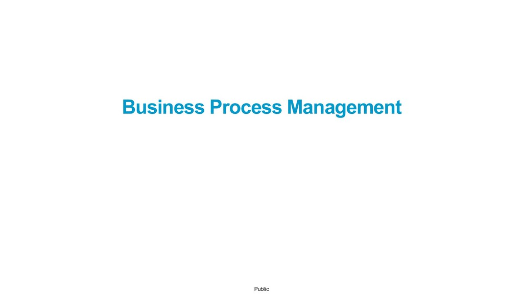 Public Business Process Management