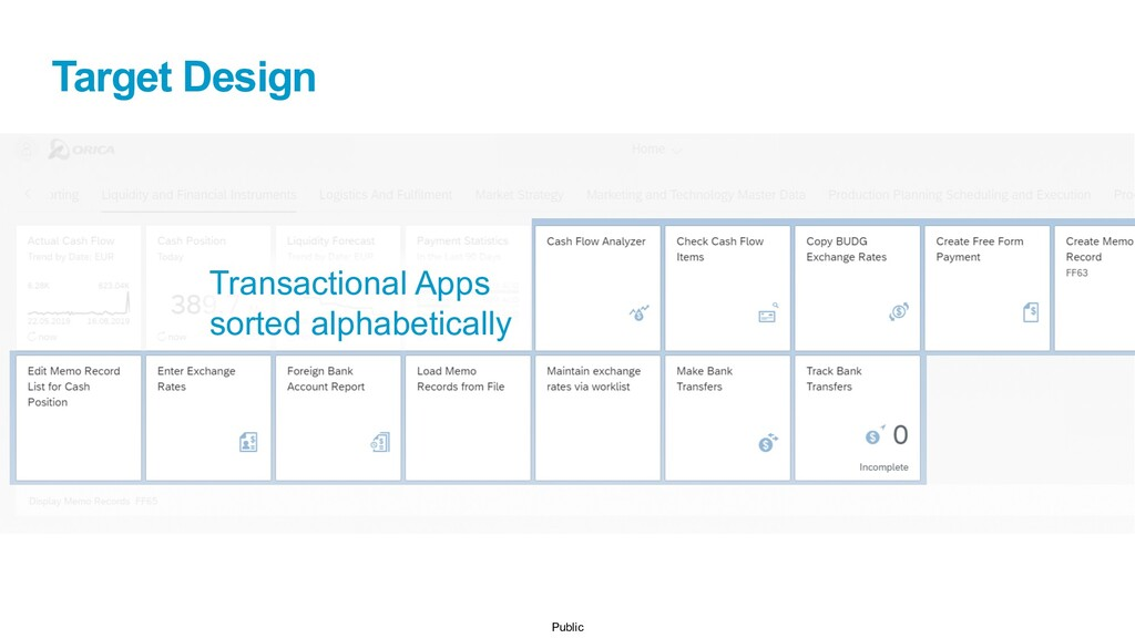 Public Target Design Transactional Apps sorted ...