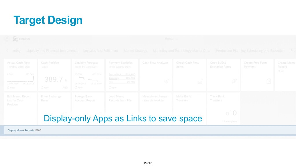 Public Target Design Display-only Apps as Links...