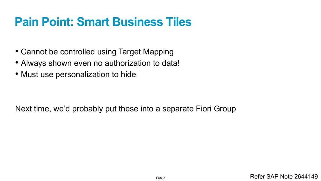 Public Pain Point: Smart Business Tiles • Canno...