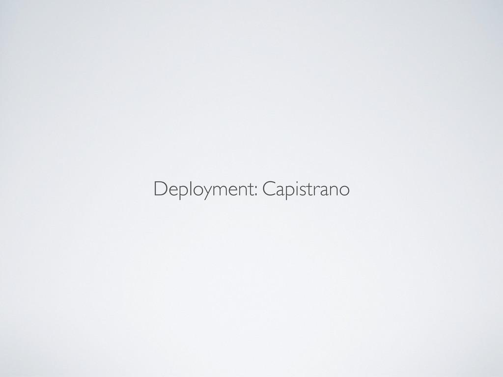 Deployment: Capistrano