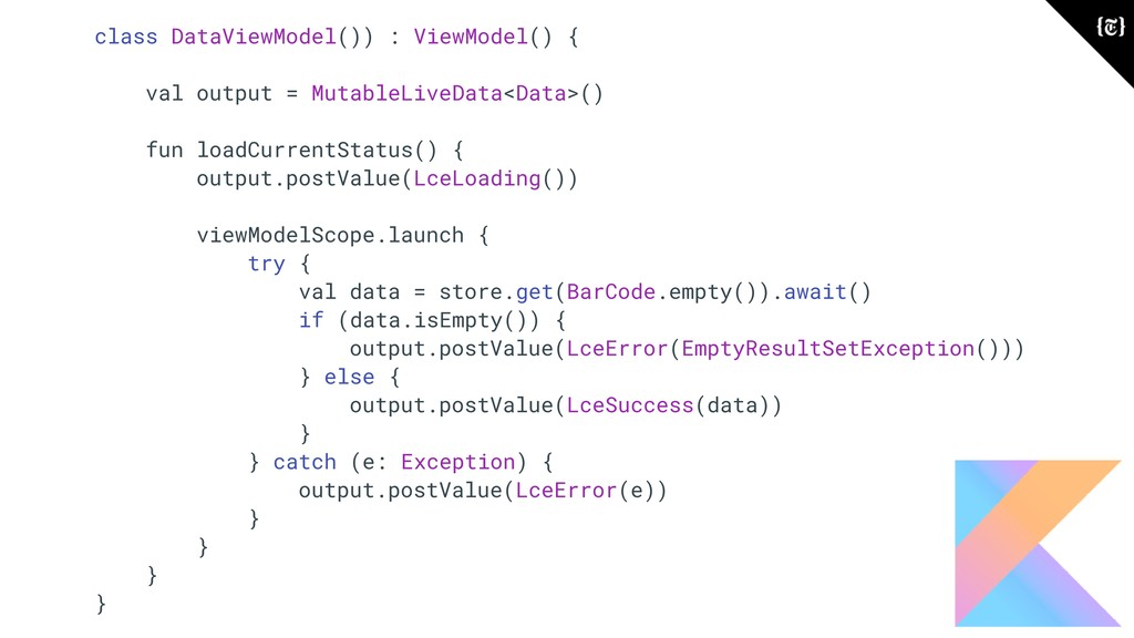 class DataViewModel()) : ViewModel() { val outp...