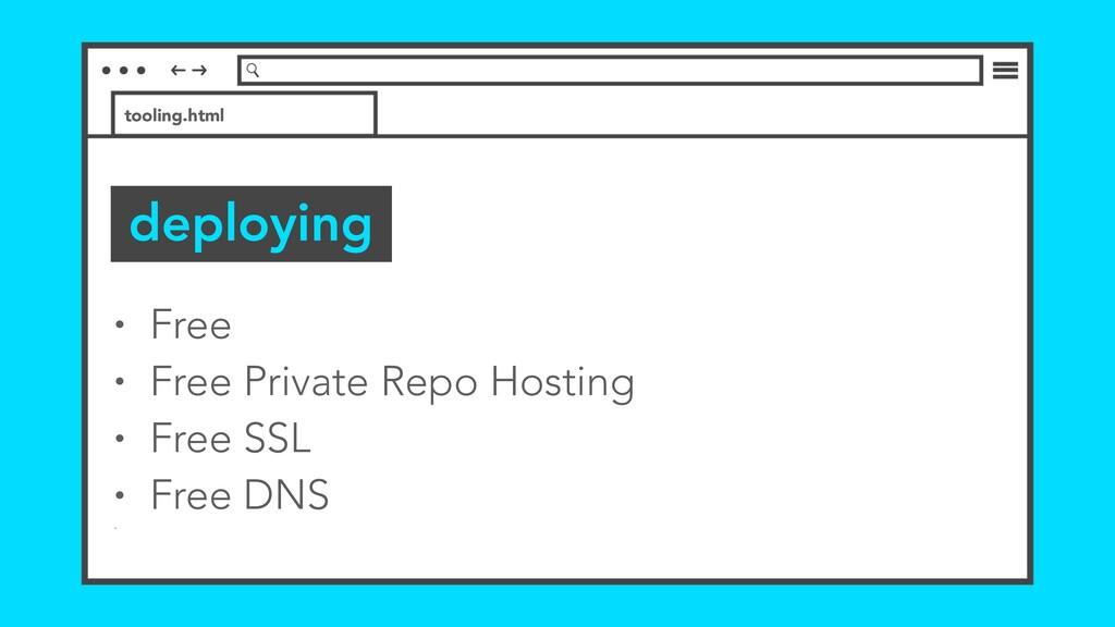 • Free • Free Private Repo Hosting • Free SSL •...