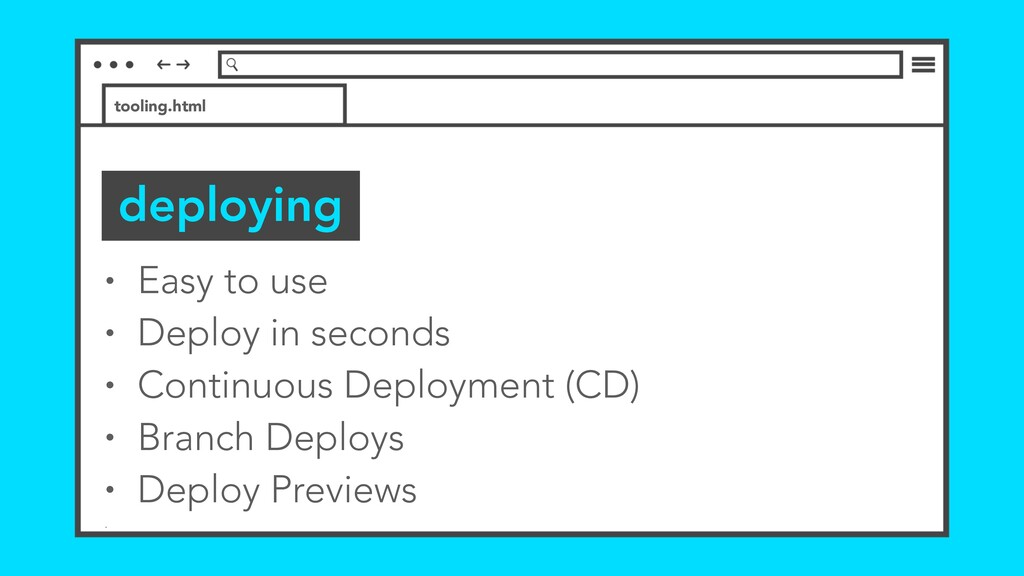 • Easy to use • Deploy in seconds • Continuous ...