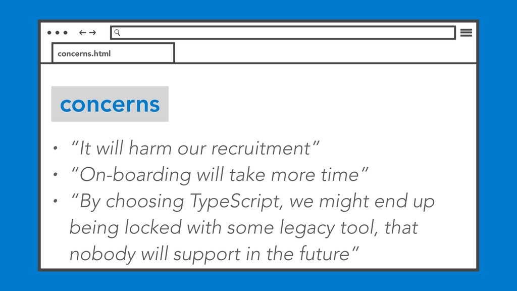 """concerns concerns.html • """"It will harm our recr..."""