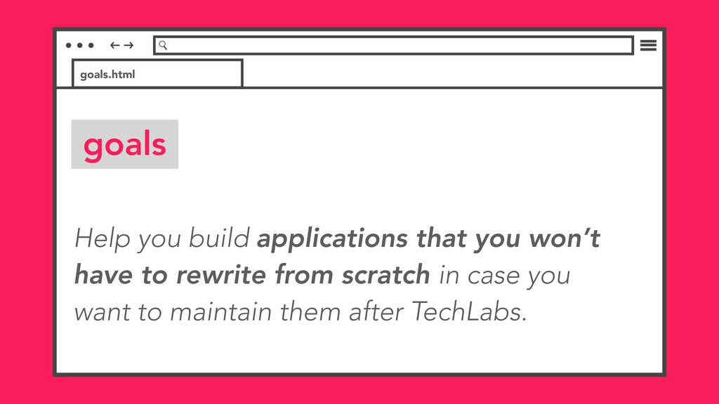 Help you build applications that you won't have...