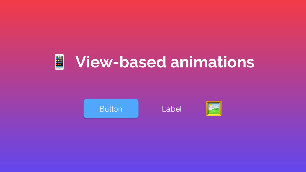 Button Label ' % View-based animations