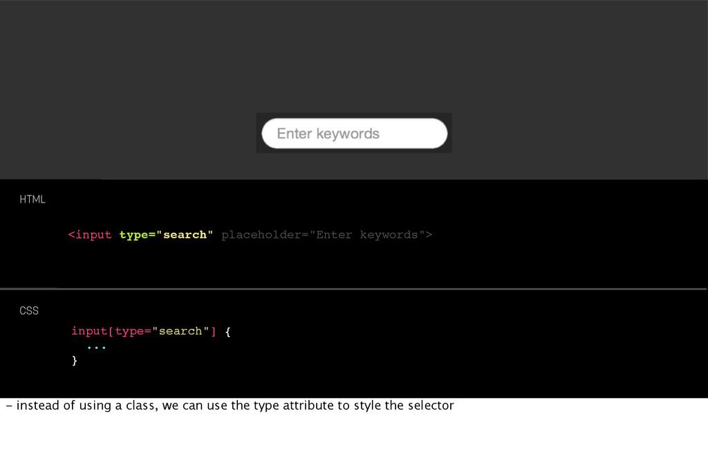 "<input type=""search"" placeholder=""Enter keyword..."