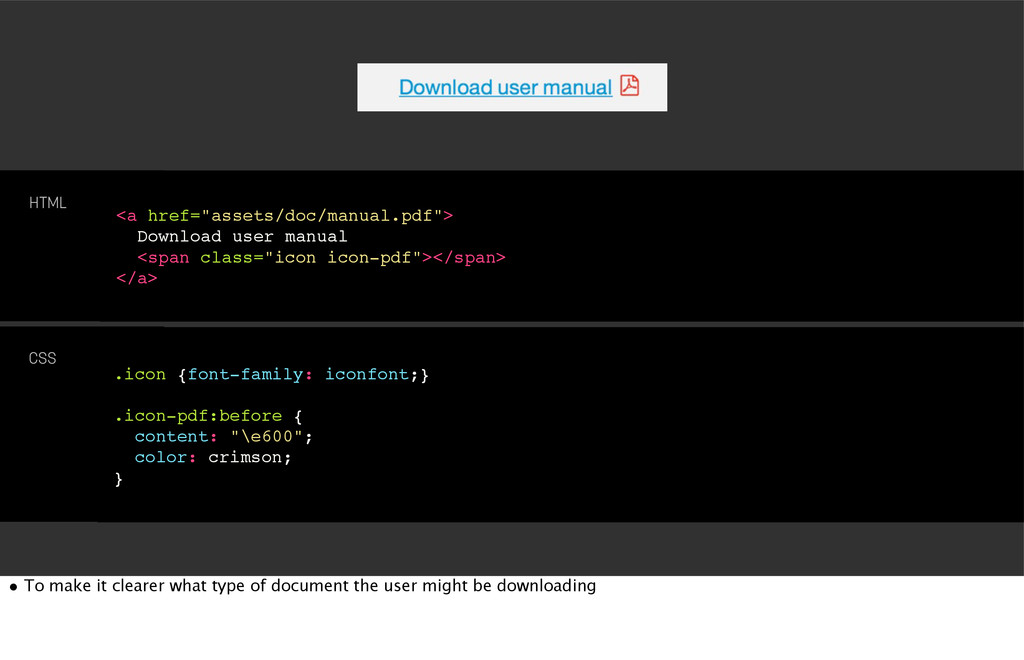 .icon {font-family: iconfont;} .icon-pdf:before...