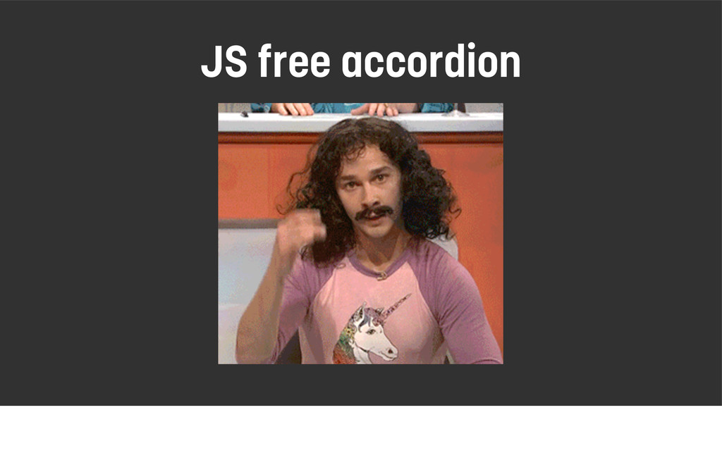 JS free accordion