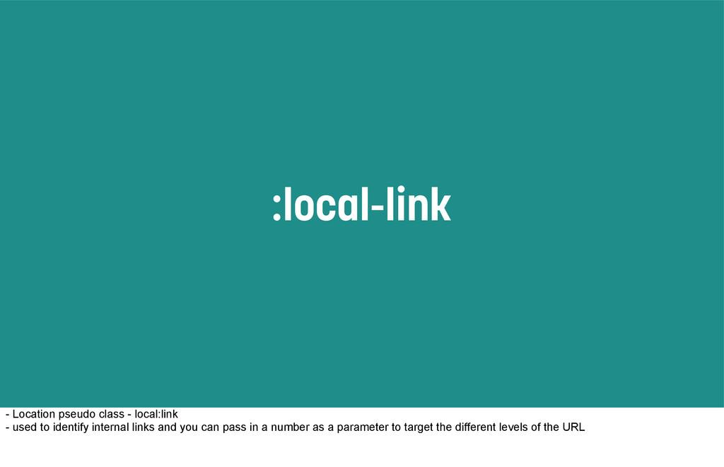:local-link - Location pseudo class - local:lin...