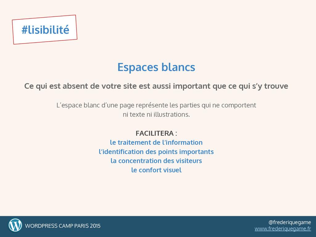 #lisibilité WORDPRESS CAMP PARIS 2015 @frederiq...