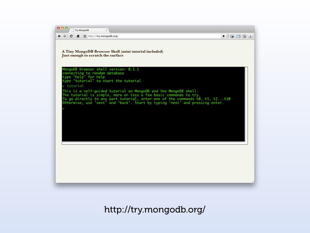 http://try.mongodb.org/