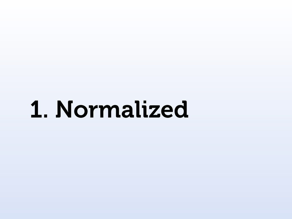 1. Normalized