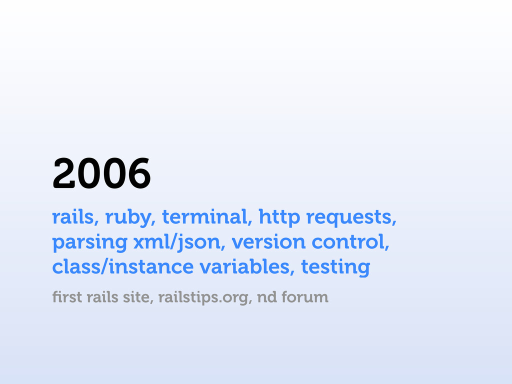 2006 rails, ruby, terminal, http requests, pars...