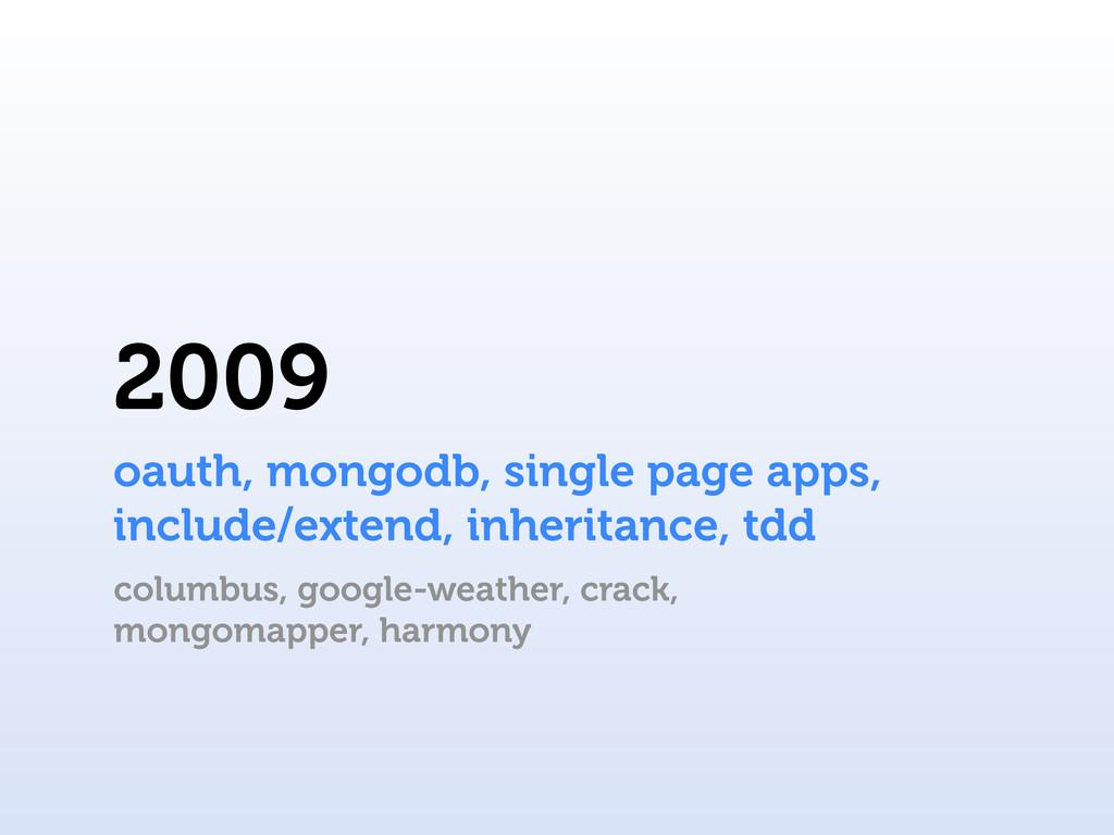 2009 columbus, google-weather, crack, mongomapp...