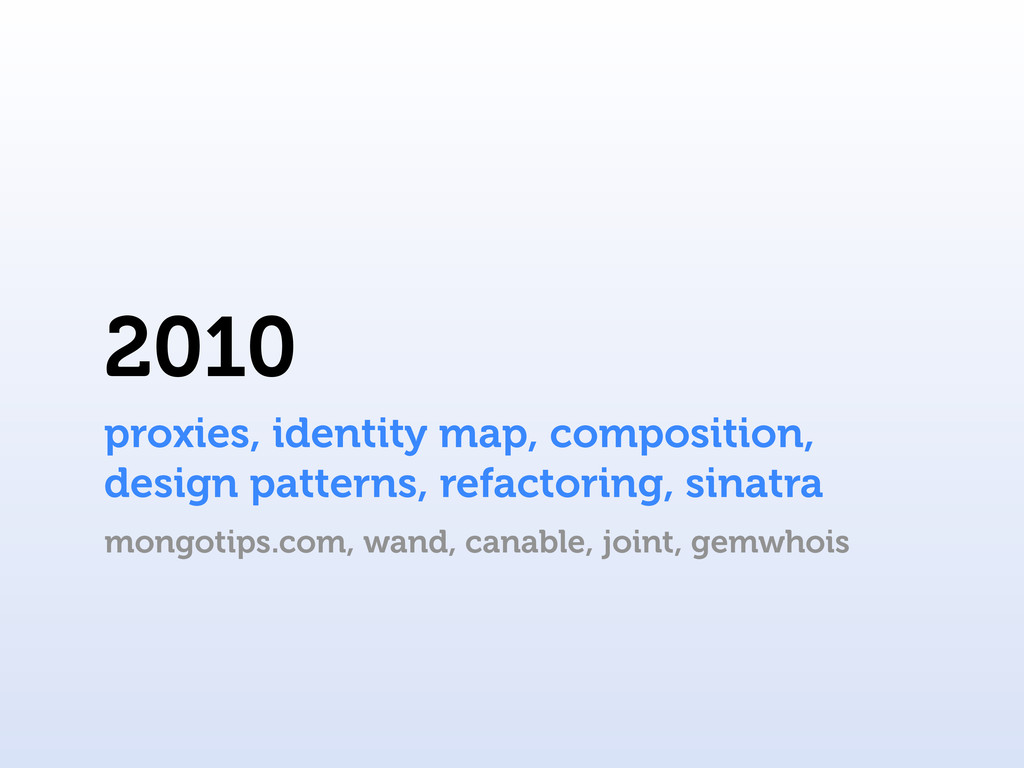 2010 proxies, identity map, composition, design...