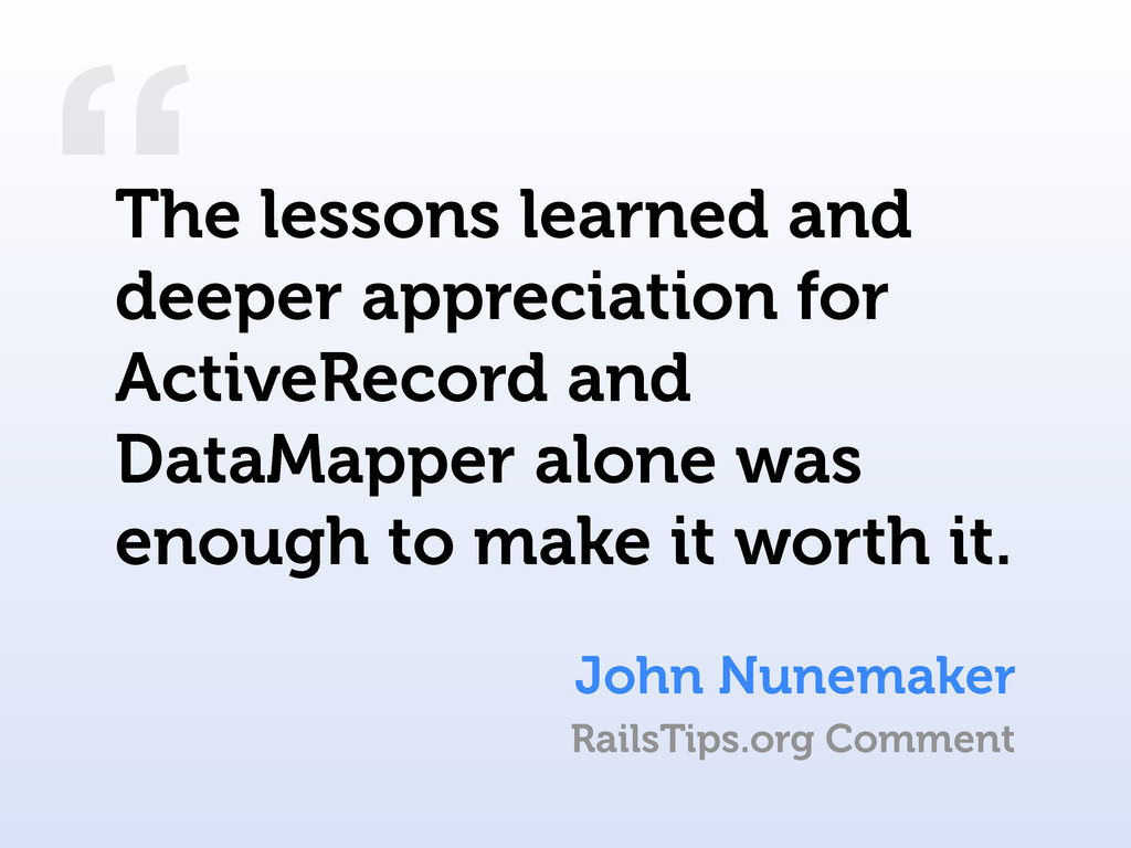 """ John Nunemaker The lessons learned and deeper..."