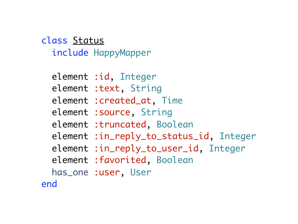 class Status include HappyMapper element :id, I...