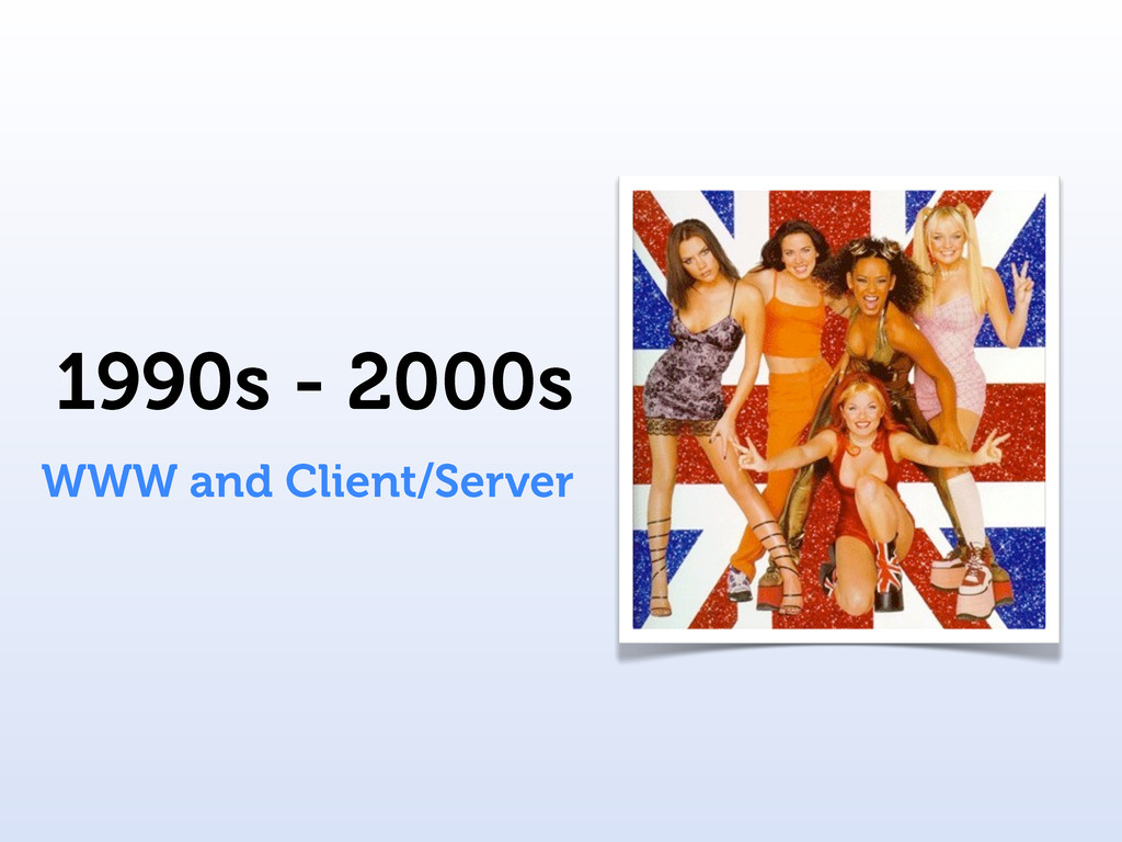 1990s - 2000s WWW and Client/Server