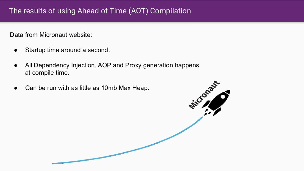 The results of using Ahead of Time (AOT) Compil...