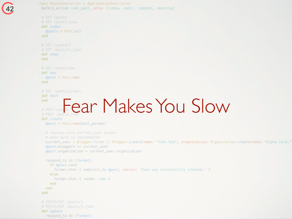 Fear Makes You Slow