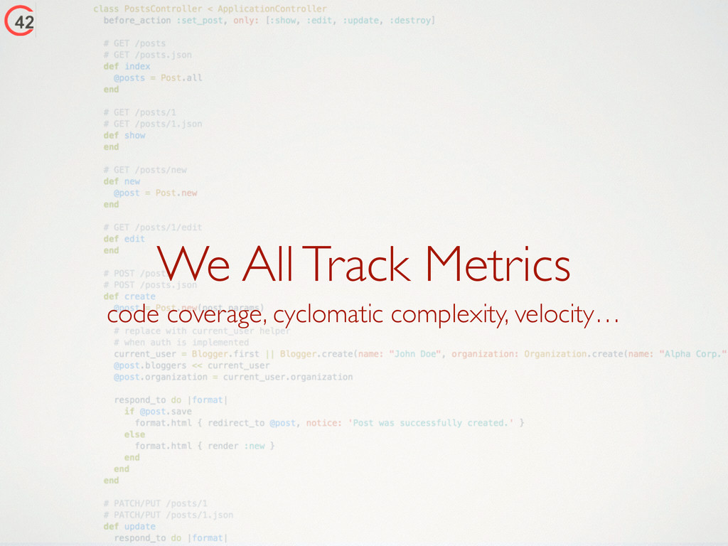 We All Track Metrics code coverage, cyclomatic ...