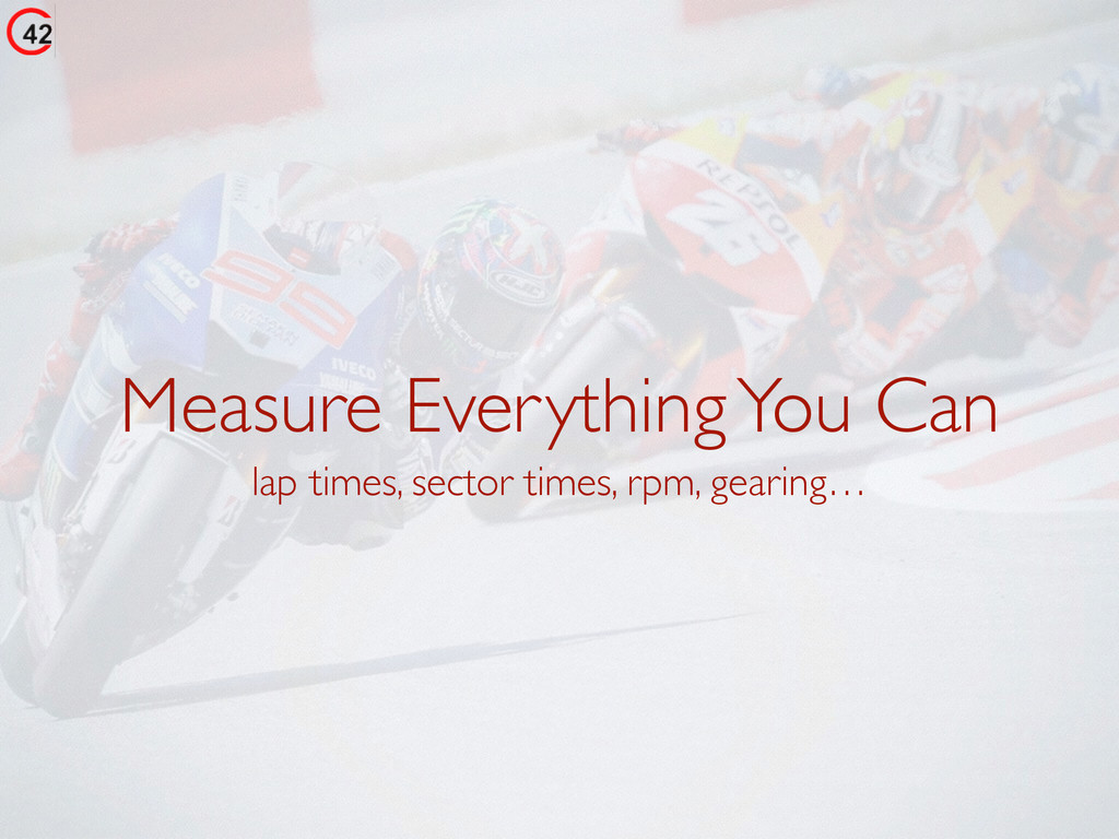 Measure Everything You Can lap times, sector ti...