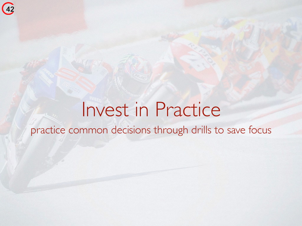 Invest in Practice practice common decisions th...